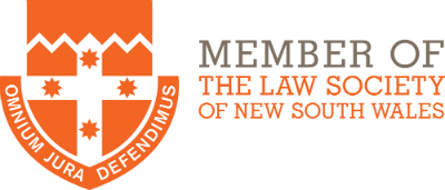 Member of The Law Society of New South Wales