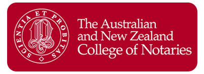 The Australian and New Zealand College of Notaries